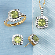 Birthstone Jewelry with White Sapphire Accents