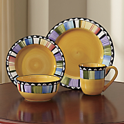 16 pc  hand painted fandango dinnerware set