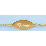 Name/Oval Plate Anklet