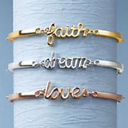 tri color faith  dream  love bracelet set