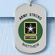 stainless steel name military dog tag pendant