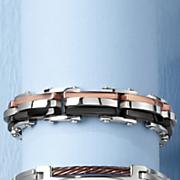 Men's Stainless Steel Tri-Color Bracelet