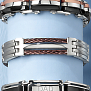 Men's Stainless Steel Chocolate Cable Bracelet