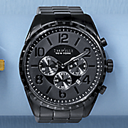 men s black chrono watch by caravelle