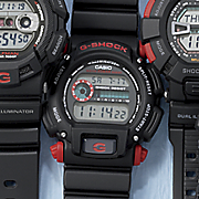 men s red black standard g shock watch by casio