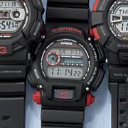 men s red black standard g shock watch by casio