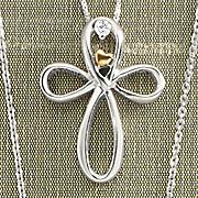 arms of love diamond cross pendant by leeza gibbons