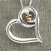 arms of love diamond pendant by leeza gibbons