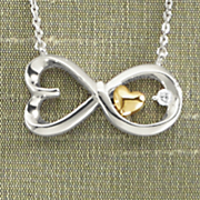 arms of love diamond infinity necklace by leeza gibbons