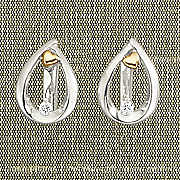 arms of love diamond leverback teardrop earrings by leeza gibbons