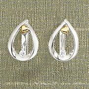 arms of love diamond leverback teardrop earrings by leeza gibbons