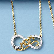 diamond mom infinity pendant