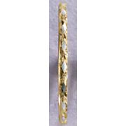 14k gold two tone flex bangle