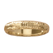 14k gold nano diamond resin 4mm diamond cut band