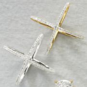 white diamond x ring