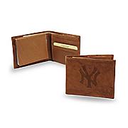 mlb embossed wallet