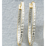 white diamond in out round hoops