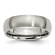 Brushed Titanium 6mm Band