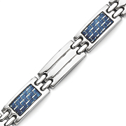 stainless steel blue inlay bracelet