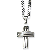 stainless steel cross necklace 1