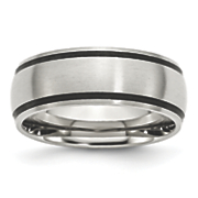 Brushed Stainless Steel 8mm Band