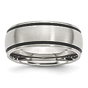 Brushed Stainless Steel 8mm Band by Chisel