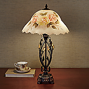 hand painted floral table lamp