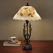 Hand-Painted Floral Table Lamp