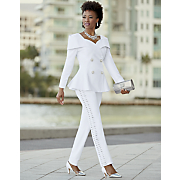alisa linin jacket and pant