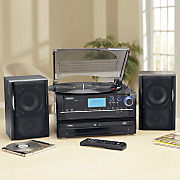 3-Speed Turntable Stereo System with CD Recording by Jensen