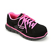 women s synergy sandlot lace up athletic safety toe shoe by skechers
