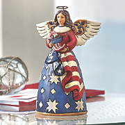 patriotic angel figurine by jim shore