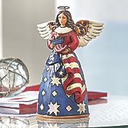 patriotic angel figurine by jim shore