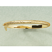 diamond cut hinged bangle 12