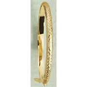 diamond cut hinged bangle 12
