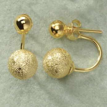Double Ball/Jacket Post Earrings