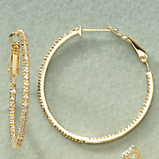 Cubic Zirconia In/Out Hoops