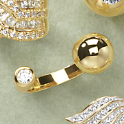 Cubic Zirconia Open Ring