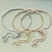 cubic zirconia adjustable bracelet