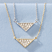 10k gold diamond triangle pendant 6