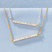 10k gold diamond bar pendant 12
