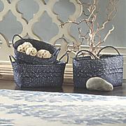 set of 3 blue baskets