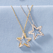 10k gold diamond star pendant