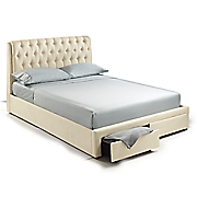 Lillian Tufted Storage Bed