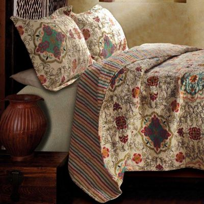 Esprit Quilt Set, Pillows, Window Treatments, Throw and Shower Curtain
