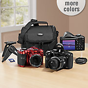 18 mp  40x optical zoom digital camera bundle by polaroid