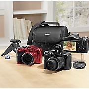 18 mp  50x optical zoom digital camera bundle by polaroid