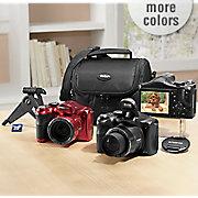 18 mp  50x optical zoom digital camera bundle by polaroid