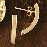 14K Gold Curved/Stick Post Earrings