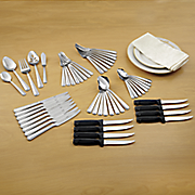 53 pc  voyage flatware set by pfaltzgraff